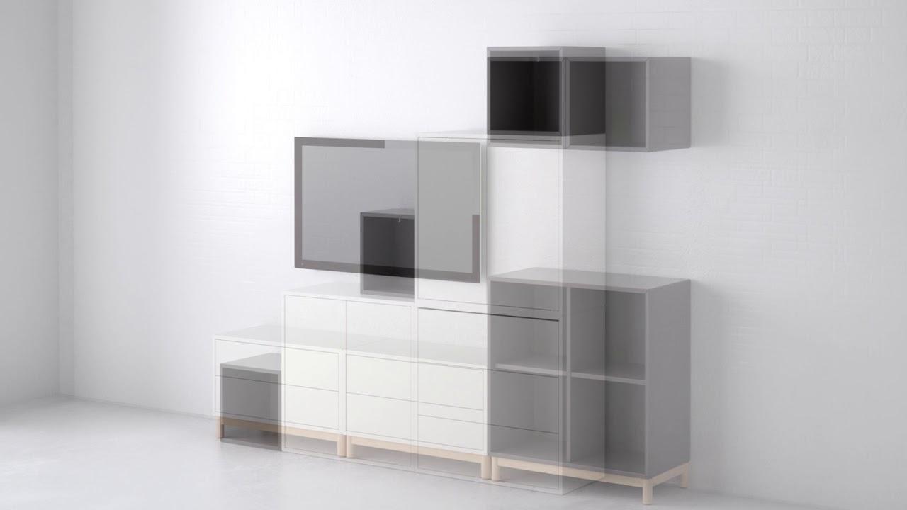 Ikea eket der inbegriff von individuell youtube for Libreria cubi ikea