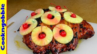 Ham With Red Currant Glaze & Pineapple Rings...it's Wow!