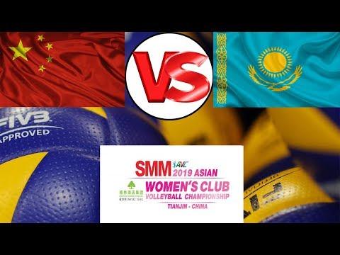 中国VS哈萨克斯坦 China VS Kazakhstan Volleyball ASIA: Asian Championship Women - Winners stage Group F
