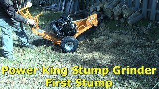 Power-King Stump Grinder - First Stump by @GettinJunkDone