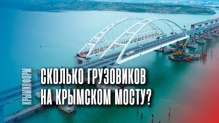 Сколько большегрузов ездит по Крымскому мосту