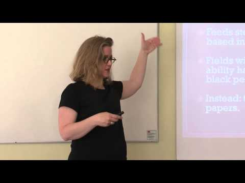 "2015 Frege Lectures - 5 - ""Implicit Bias, Stereotype Threat and Women in Academia"""