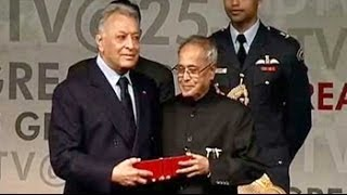 Zubin Mehta, the Maestro, is honoured by the President of India