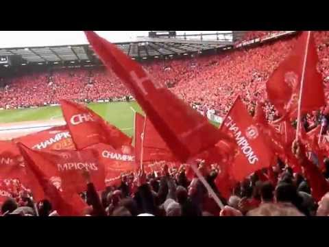 manchester united  ( fans ) champions 20 times may 2013