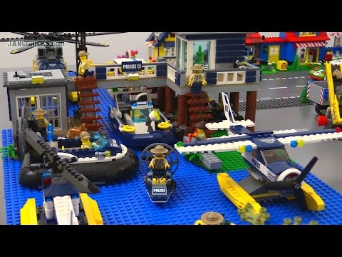 lego city 2015 all swamp police criminal sets together. Black Bedroom Furniture Sets. Home Design Ideas