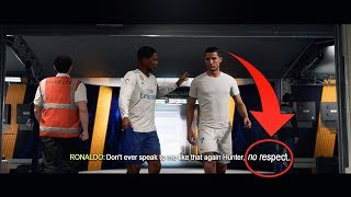 What if Hunter responds RUDELY to Cristiano Ronaldo? (Fifa 18 The Journey)