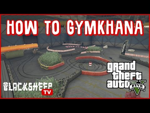 GTA 5 - How to Gymkhana - Time Attack Drift Course Online