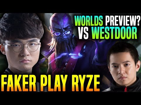 Faker Plays Ryze in A Worlds Preview? - SKT T1 Faker Ryze vs AHQ Westdoor Talon! | SKT T1 Replays