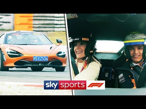 Lando Norris speeds McLaren sports car around Shanghai International Circuit!