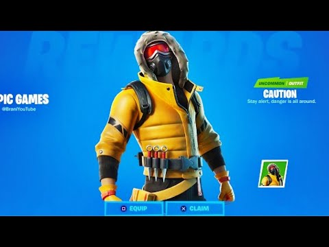 *BUG* AVOIR LE SKIN CAUTION GRATUITEMENT 0€ EN 5MIN | GLITCH SKIN {PS4/ONE/PC/SWITCH/MOBILE}