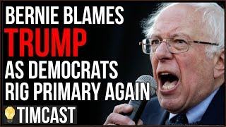 Bernie BLAMES Trump Even As Democrats And CNN Rig Primary Against Him, Sanders Is Not Strong Enough