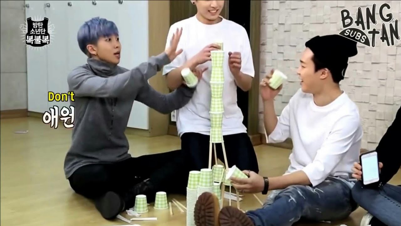 [ENG SUB]BTS RUN Episode 5(cup staking)