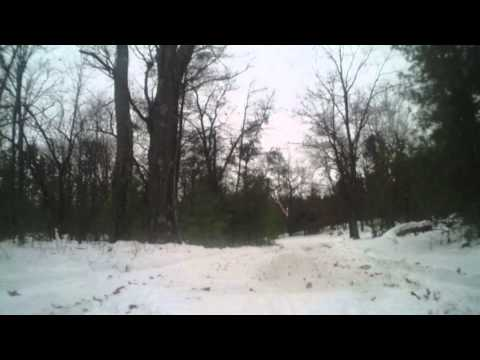 On The Snowmobile Trails- Wood Lake To Pleasant Lake Wisconsin ON BOARD