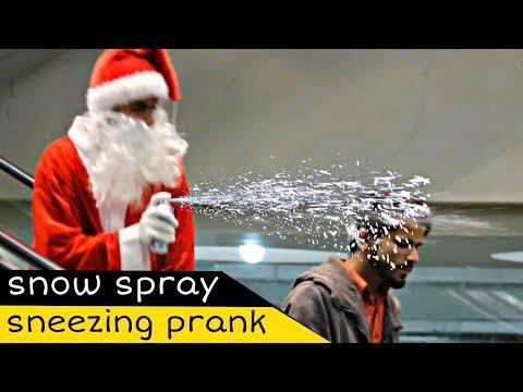 Santa Weird Sneezing Prank On Escalator   Amanah Mall   Prank In Pakistan