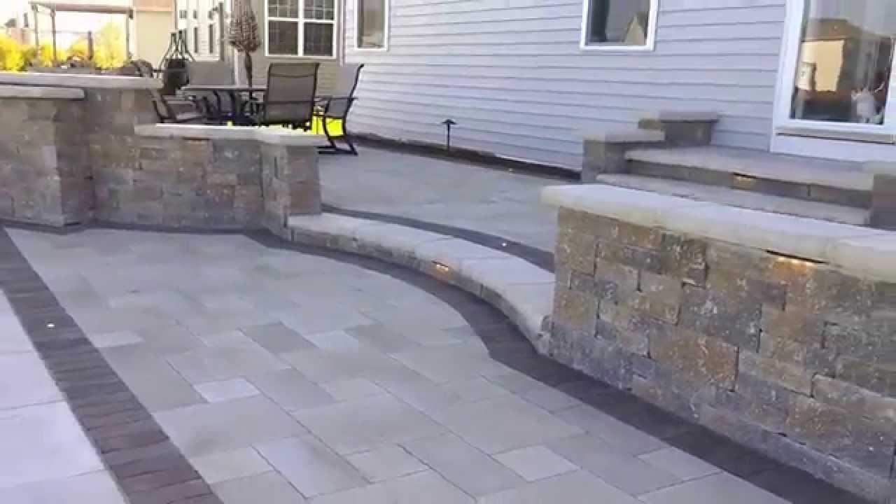 Brick Logik Llc Multi Level Paver Patio In Oswego Il