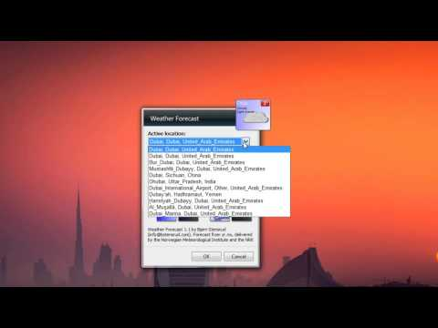 how to get weather widget on windows 7