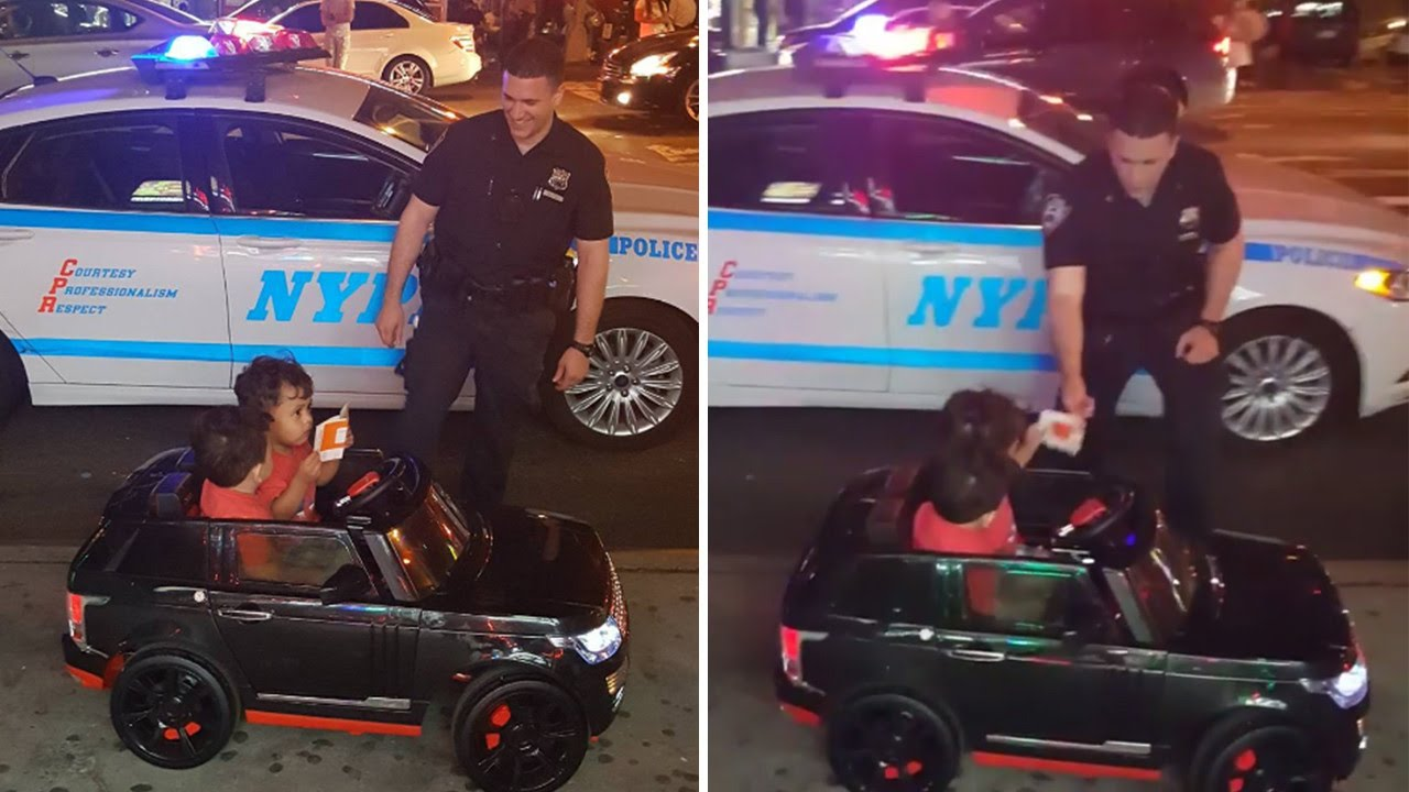 Officer Pull Over : Why this police officer pulled over year old twins in