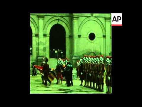 SYND 6 5 69 VATICAN CITY SWISS GUARDS SWORN-IN