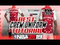 NBA 2K19 BEST CREW UNIFORMS! 2K19 HOW TO CREATE CUSTOM CREW T-SHIRTS