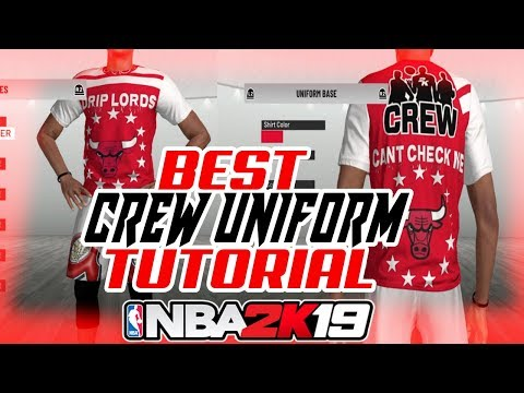 NBA 2K19 BEST CREW UNIFORMS! 2K19 HOW TO CREATE CUSTOM CREW T-SHIRTS