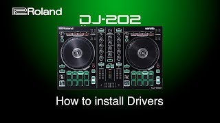Roland DJ-202 - How to install Drivers