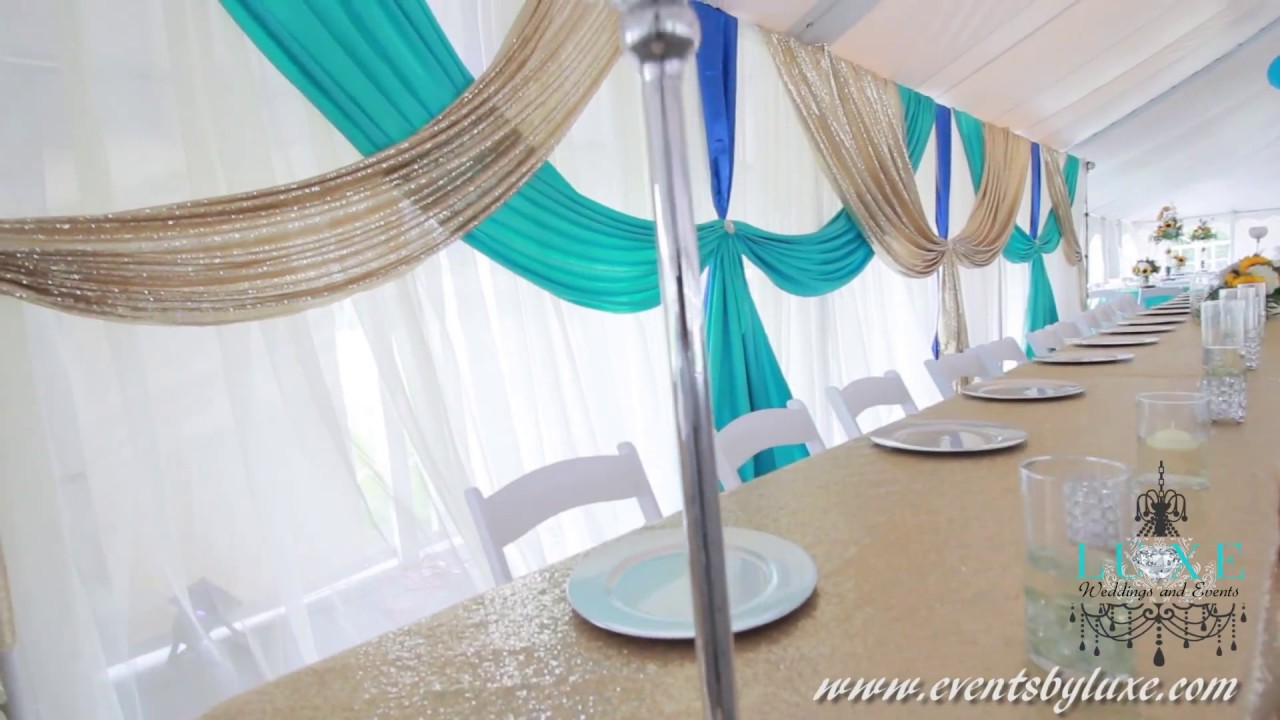 Tent Wedding Decorations by LUXE Weddings and Events - YouTube