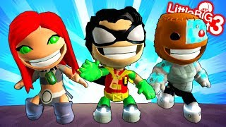 Teen Titans Go! Costumes - LittleBigPlanet 3 PS4 Gameplay | EpicLBPTime