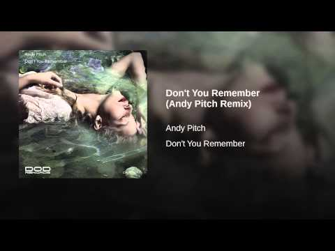 Don't You Remember (Andy Pitch Remix)