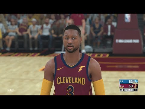 NBA 2k18 - Cleveland Cavaliers vs Golden State Warriors | Dwyane Wade Signs with Cavs