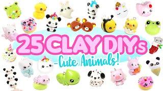 25 Clay DIYs- ANIMAL THEME 2- CUTE Polymer Clay Compilation!