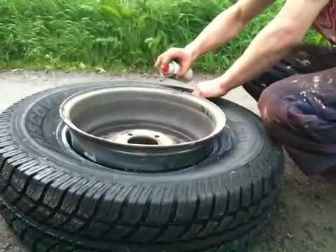 skifta däck på fälg