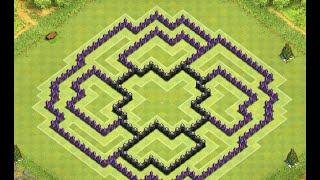 Clash Of Clans - Town Hall Lvl 9 DE Farming Base !!!