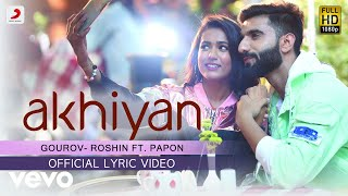 Official Lyric Video|Gourov - Roshin| Papon | Mr. MNV | Gima | Latest Love Song