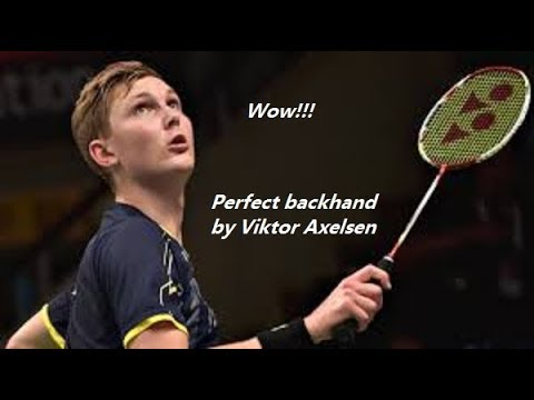 Perfect backhand by Viktor Axelsen | 安赛龙的完美反拍