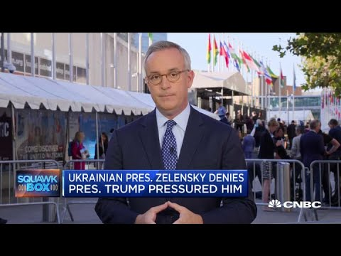 Ukrainian President Zelensky denies President Trump pressured him