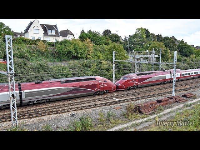 Thalys TGV PBKA - Rame n° 4303 et Thalys TGV PBA (réseau) - Rame n° 4540