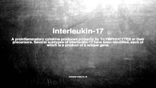 Medical vocabulary: What does Interleukin-17 mean