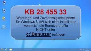 KB2845533 funktioniert nicht wenn Benutzer verschoben wurden