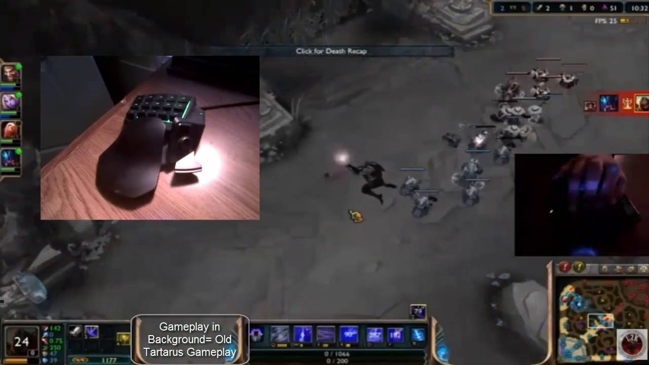 Live2Kill Razer Tartarus Updated Review AND League Of Legends KeyBindings!