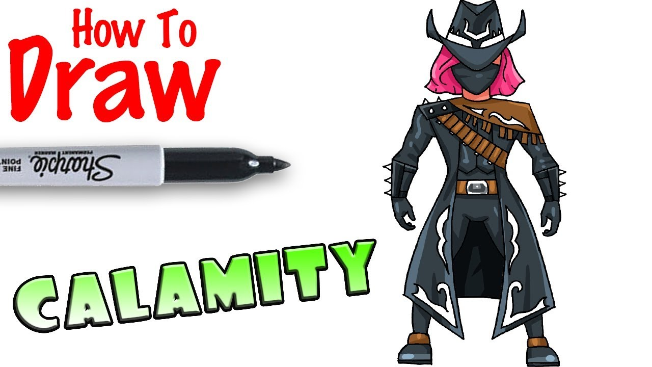 How To Draw Calamity Max Fortnite Youtube