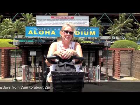 Aloha Stadium Swap Meet is mobility scooter & wheelchair accessible
