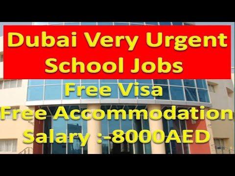 Dubai Latest Teaching Jobs With Free Visa & Free Accommodation Salary :-8000AED