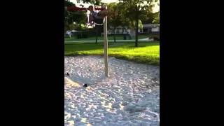 Kid Fails Swing Seat Jump