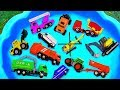 Cars for kids, Toys review and Learning Name and Sounds Police car, Fire Truck, Dump Truck Toy