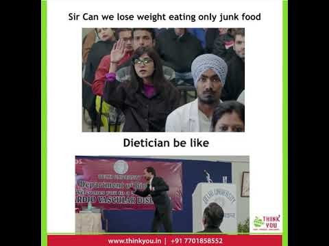 Can we loose weight eating only junk food? | Think You