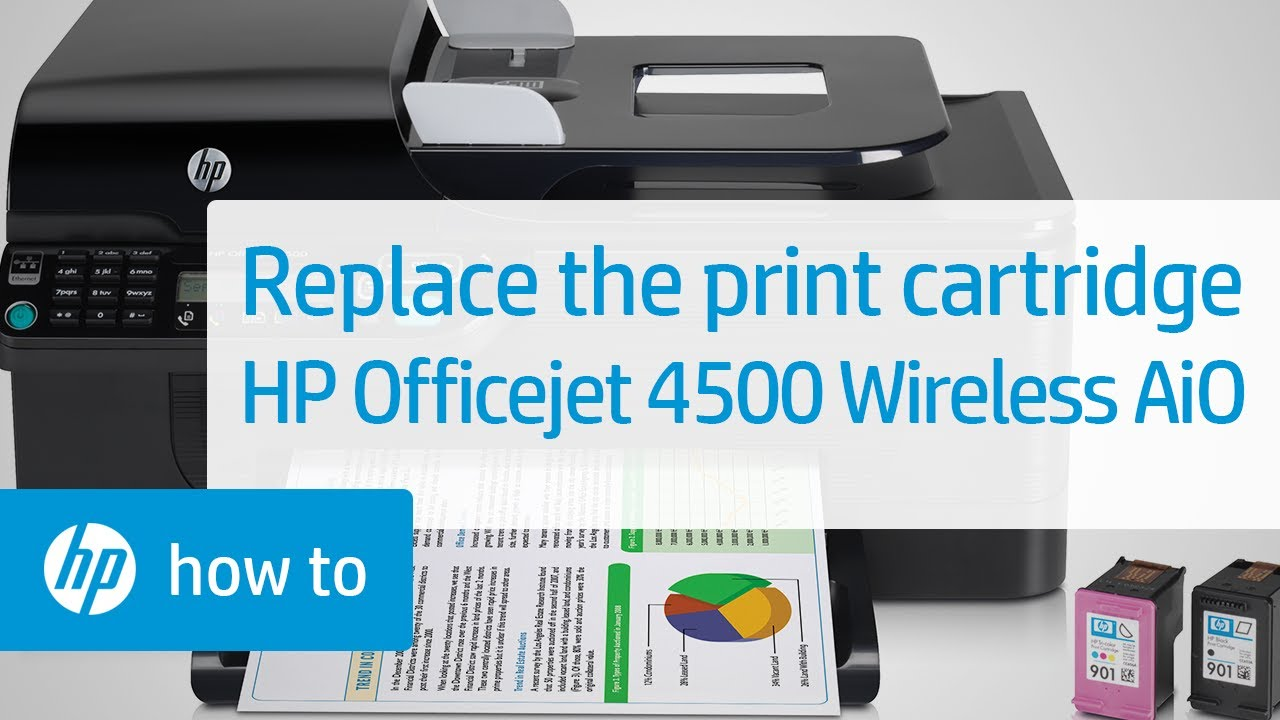 replacing a print cartridge hp officejet 4500 wireless all in one rh youtube com hp officejet 4500 wireless manual how to scan hp officejet pro 4500 wireless manual