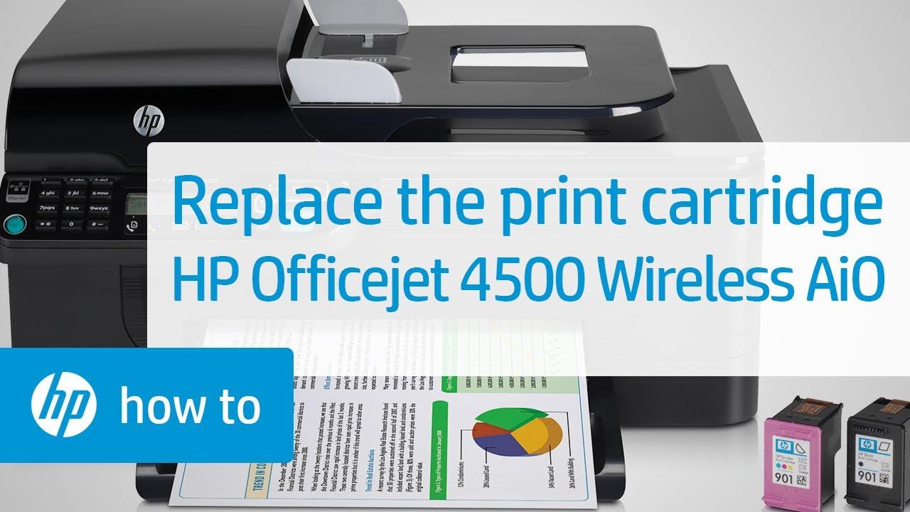 Replacing A Print Cartridge Hp Officejet 4500 Wireless