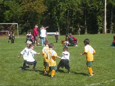 4 Year Old Soccer Game Schuyler Hd Youtube