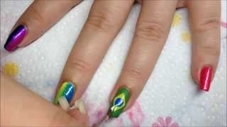 Nail art Brésil haut en couleurs Thumbnail