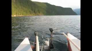 Canoe Catamaran-2 electric motors-Slocan Lake BC